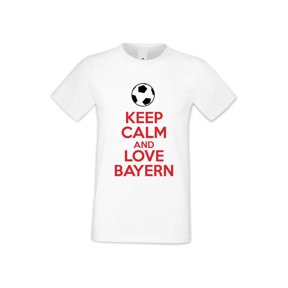 Pánske tričko KEEP CALM and LOVE BAYERN  (S-M-FOOT-003)