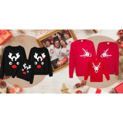 Vianočné rodinné sady tričiek a blúzok - perfektný darček